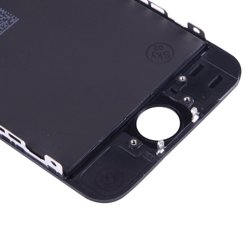 para iphone repuesto pcs 3 in 1 lcd frame touch pad negro