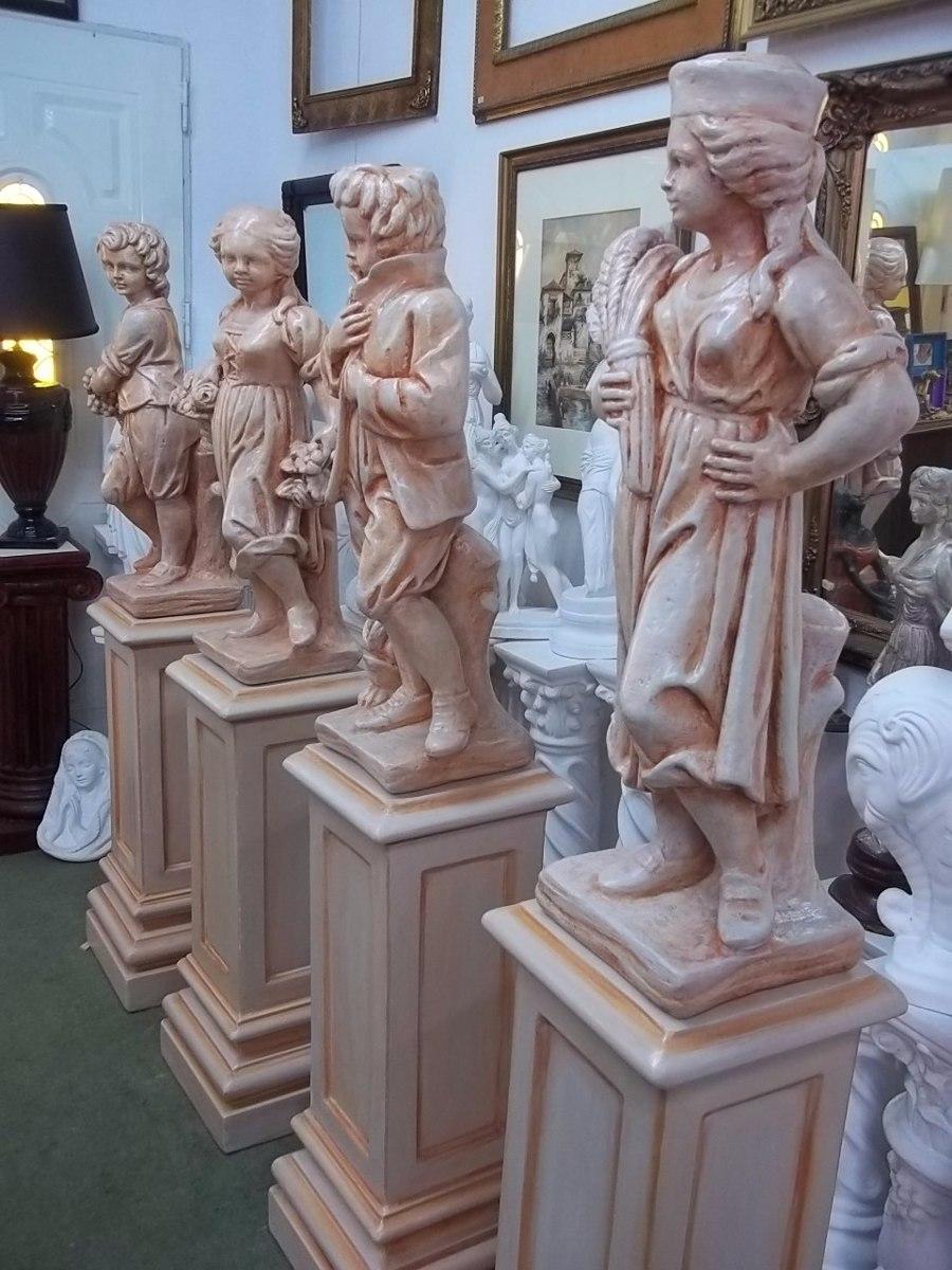 Columna De Cemento Pedestal Base Para Estatuas De Jardin 2180 - Estatuas-de-jardin