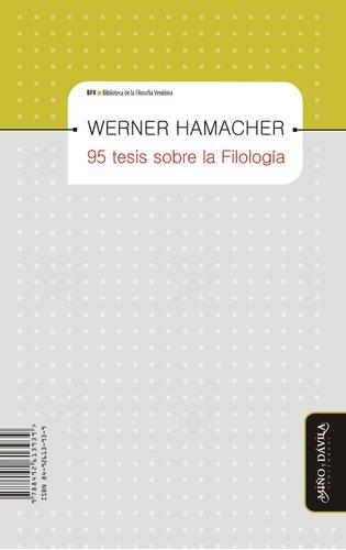 para - la filología / 95 tesis sobre filología