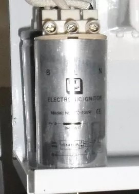 para lámparas balastro 150w, 220v + ignitor + condensador