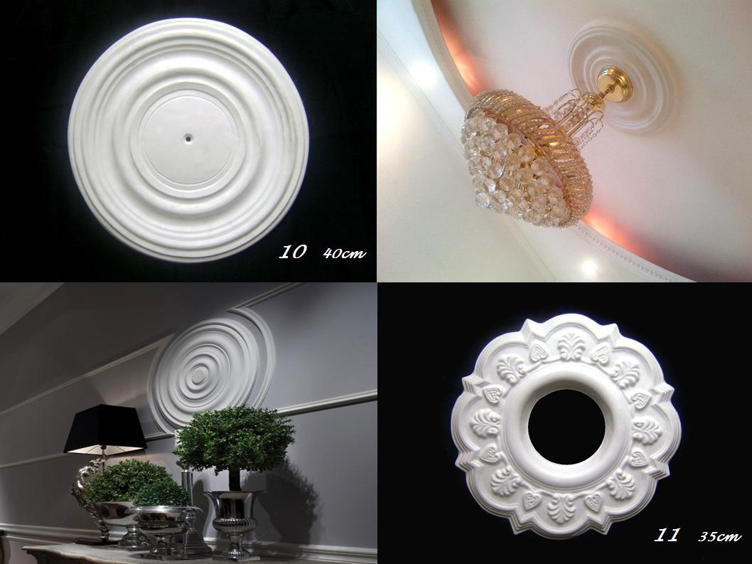 Rosetones apliques plafones para lamparas de techo - Lamparas de techo redondas ...