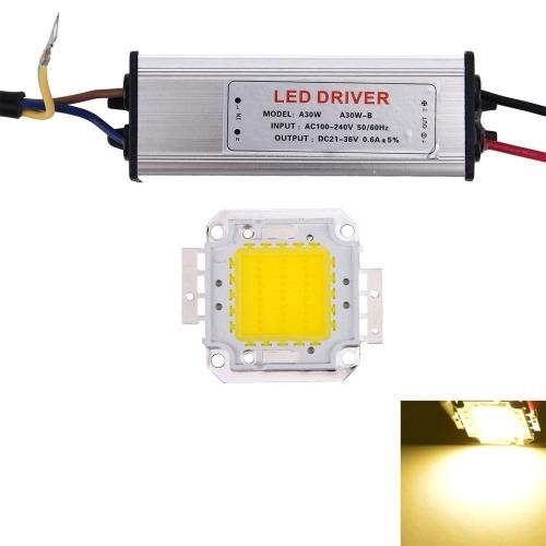 para led controlador 30w 2600lm luz lampara calido