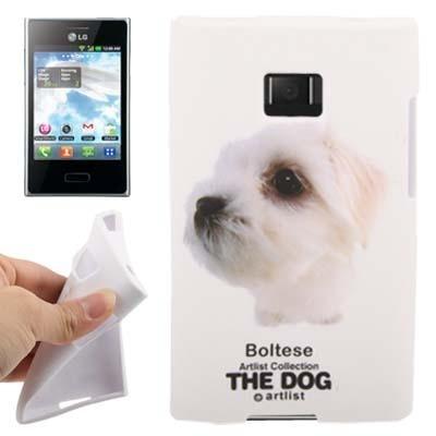 para lg estuche suave diseño tpu serie perro corgi gal