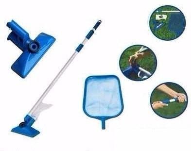 Set para limpieza limpia piscina 3 piezas nuevos oferta for Kit limpieza piscina