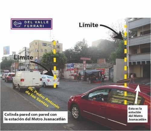 para locales comerciales - terreno esquina metro juanacatlán