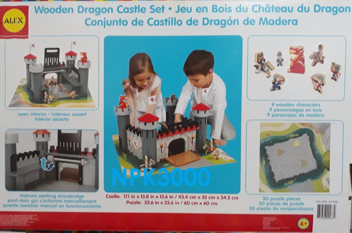Castillo De Juguete Para Niños Dragon De Madera Alex Brands