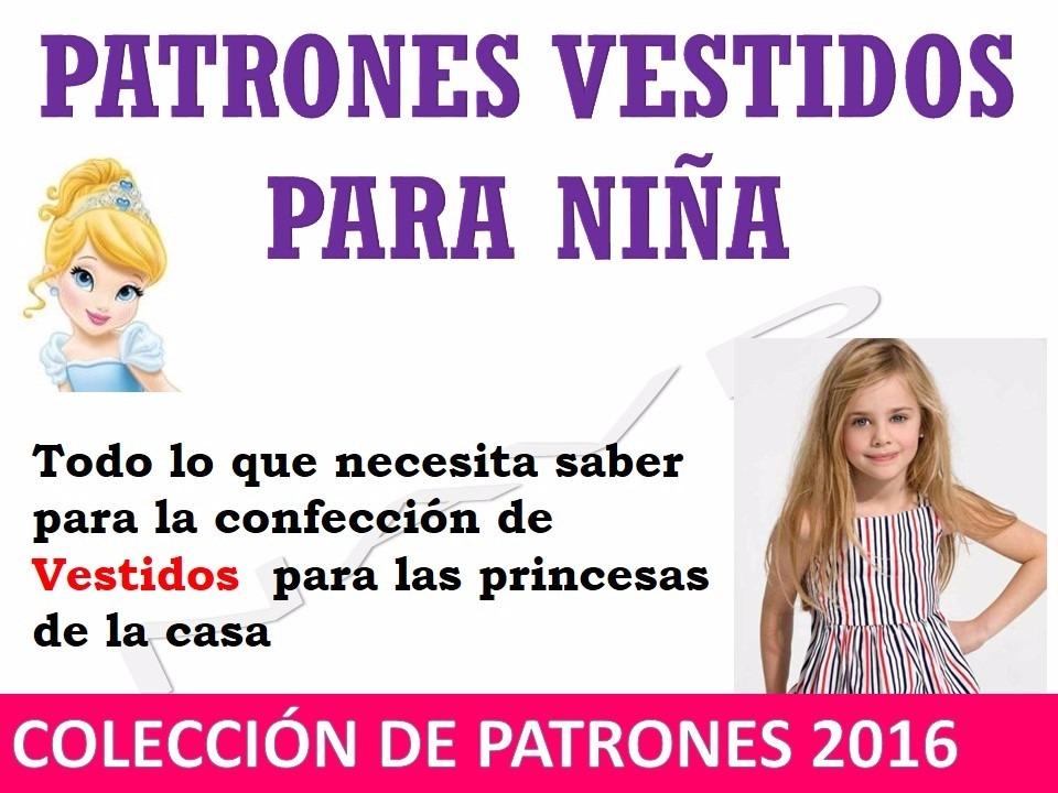 Patrones De Vestidos Para Niñas Moldes Bata Bebe Niña - Bs. 300,00 ...