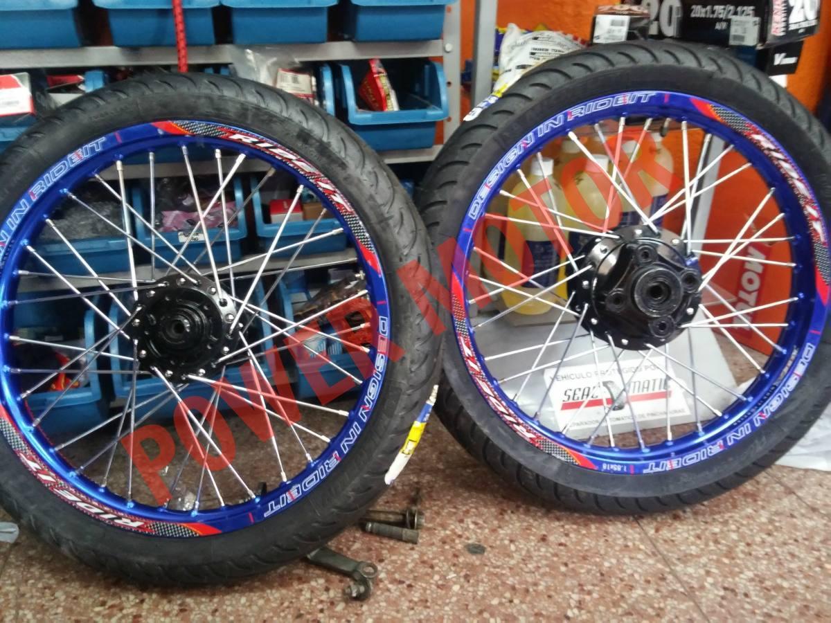 Llantas De Aluminio Ride It Todas Las Medidas Para Moto