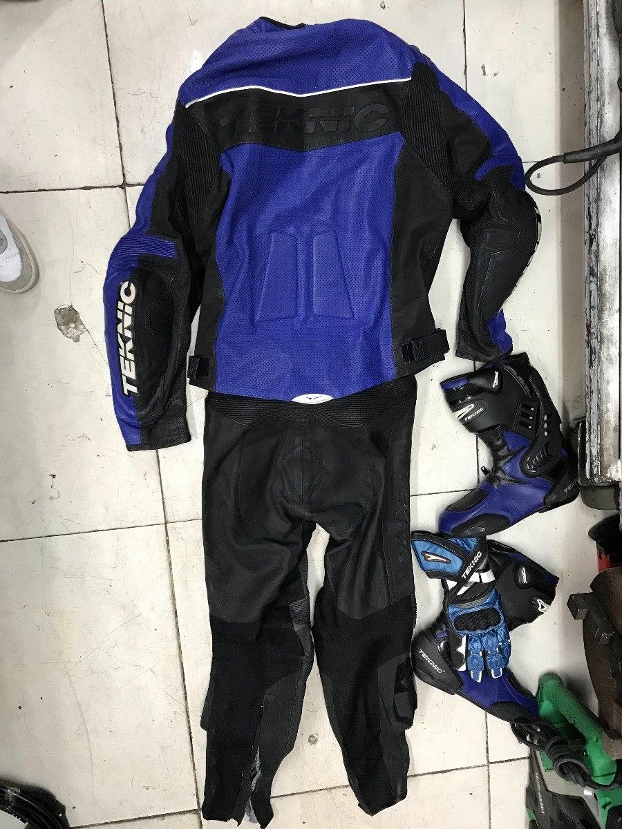 735e6869aae Cargando zoom... 2 traje para moto con botas y guantes teknic como nuevo ...
