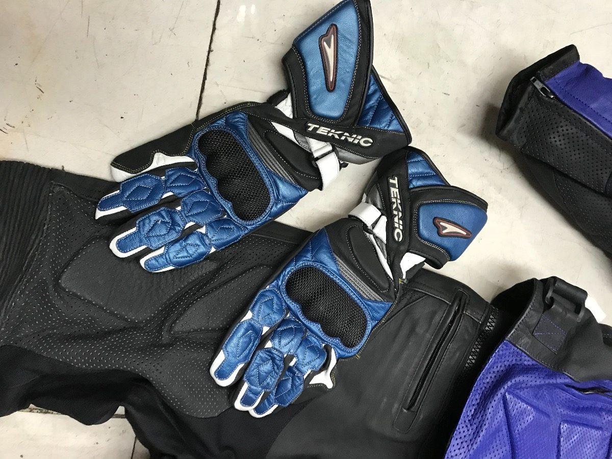 049fe45546a Cargando zoom... traje para moto con botas y guantes teknic como nuevo 2 pza