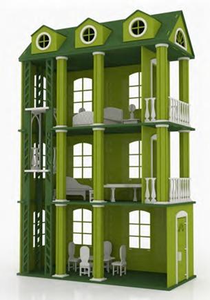 Casa ensue o para mu ecas barbie monster high en madera mdf 2 en mercado libre - Casa de monster high ...