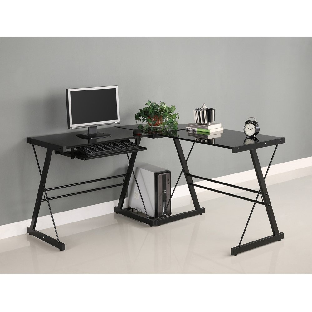Escritorio moderno angular de 3 piezas para casa u oficina for Escritorios para oficina en casa