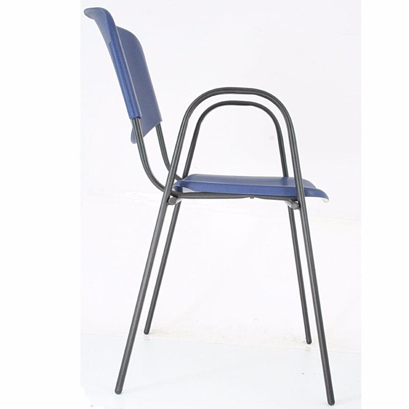 2 sillas para oficina ads de visita modelo iso plastic cb for Silla para visitas oficina