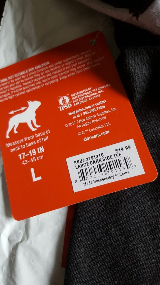 Cargando zoom... ropa para perro star wars original traido de usa shop petco 9aa85744be1