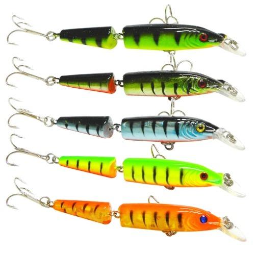 para pesca señuelo 5 pcs 10.5cm 9,6 2 seccion plastico duro