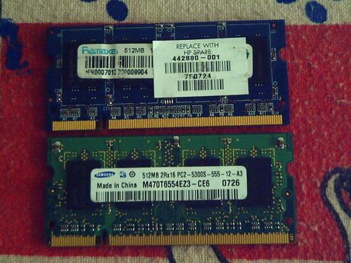 para portatil 512 memorias ddr2