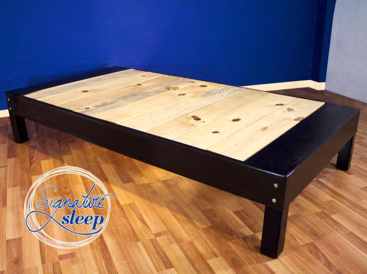 Queen size base cama tipo box para recamara cama en madera - Bases de camas de madera ...