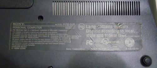 para repuesto laptop sony vaio pcg-3j1l (vgn-fw550f)