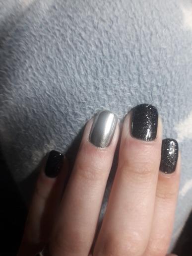 Efecto Espejo En Polvo Color Plata Para Uñas Buena Calidad