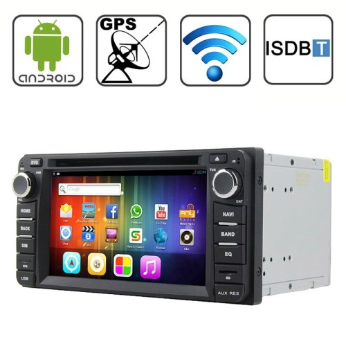 para vehiculo audio video dvd rungrace 6,2 android isdb-t