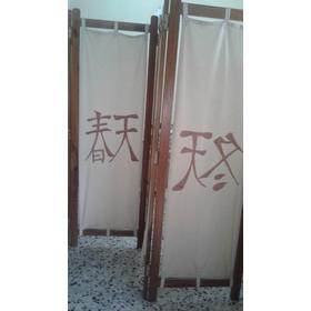 Paraban En Madera (pardillo) Y  Liencillo (ideografia China)