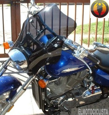 parabrisa cupula universal airspeed motos custom calle naked