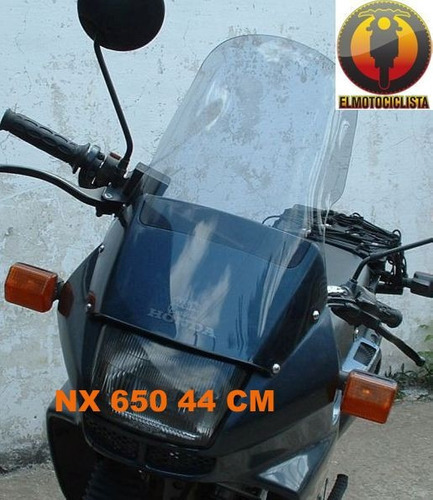 parabrisa nx 650 elevado motos honda touring elmotociclista