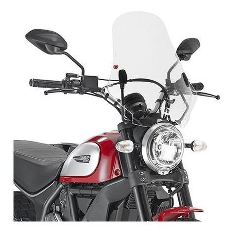 parabrisas moto ducati scrambler 400 800 givi motoscba p