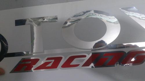 parabrisas toyota adhesivos  95 x 12 cm cromo