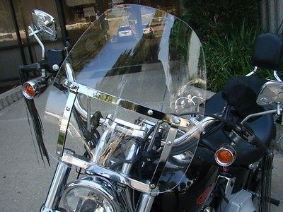 parabrisas universal para motos honda, yamaha, suzuki vento