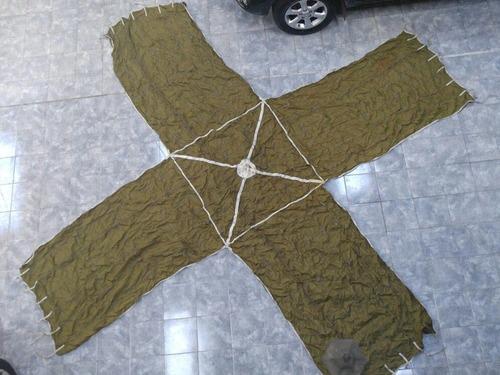 paracaidas de frenado / frenaje  de avion mirage unico!!