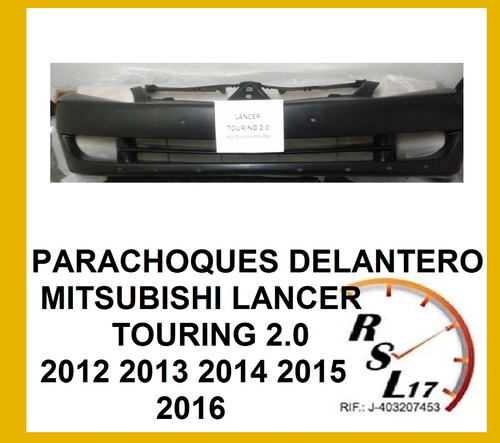 parachoque delantero mitsubishi 2.0 lancer 2012 2013 2016
