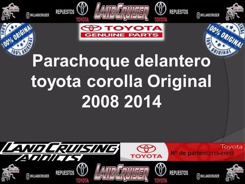 parachoque delantero toyota corolla original 2008 2014