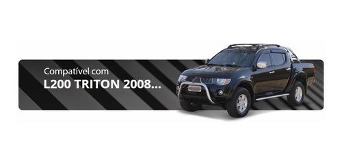 parachoque impulsão chapa preto l200 triton ano 2008 acima
