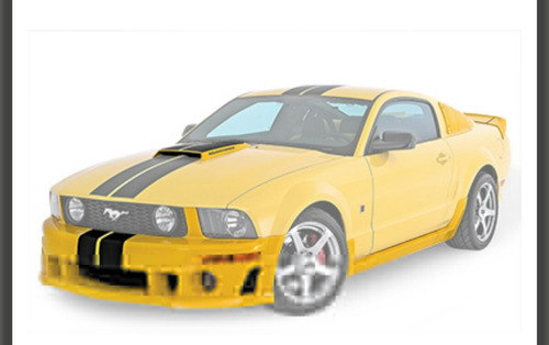 parachoque mustang gt roush kit 05 - 09