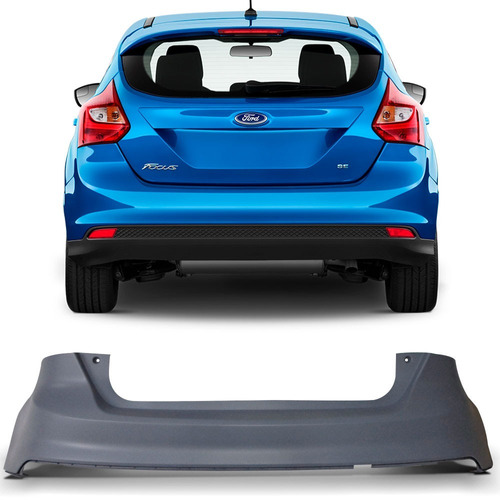 parachoque traseiro ford focus hatch 2014 2015