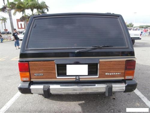 parachoque trasero jeep wagoneer cherokee 1988 1996 cromado