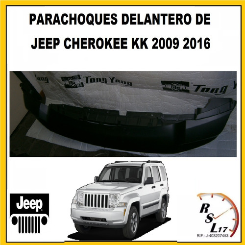 parachoques delantero jeep cherokee kk 2009 a 2016