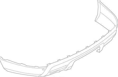 parachoques trasero inferior explorer 2011 - 2015 original