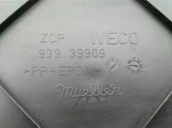parachoques trasero / porta placa iveco daily 38.13 - 60.12.