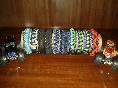 paracord pulseras originales, excelente acabado, unisex