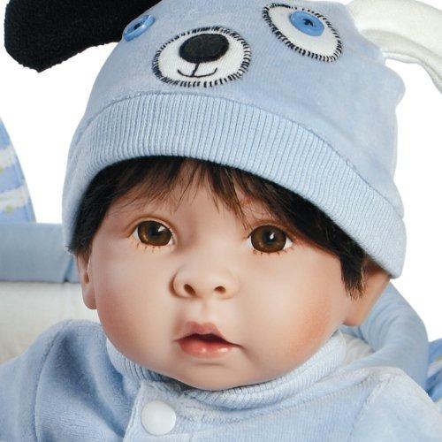 paradise galleries boy baby doll, finn y sparky, bebé de 17