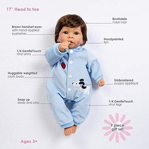 paradise galleries reborn baby boy doll finn y sparky, set d