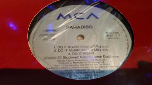 paradiso do it again vinilo maxi usa tapa roja