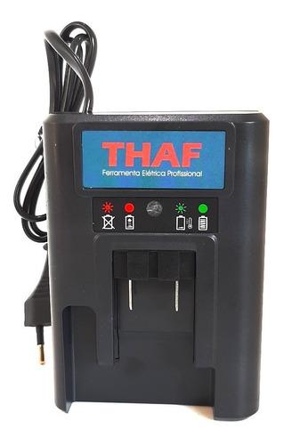 parafusadeira 21v + 2 bateria lithium + maleta + bits thaf