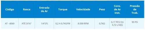 parafusadeira de impacto pneumática 1/4  puma at4060
