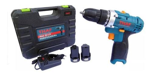 parafusadeira e furadeira 12v + 1 bits bateria