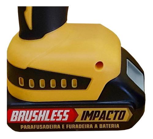 parafusadeira furadeira imp 21v 3/8 brushless 2 bat titanium