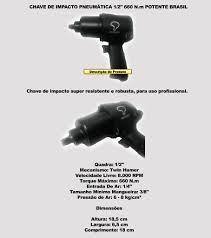 parafusadeira pneumática c/10 soquetes potente encaixe1/2´´