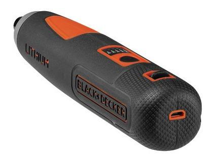 parafusadeira portátil black+decker 4v usb 5 niveis com led